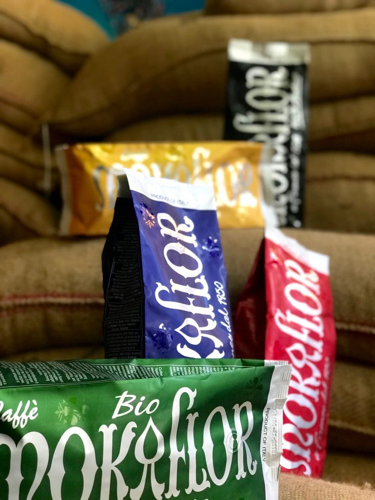 The Mokaflor rainbow - our 60/40 GREEN organic espresso blend
